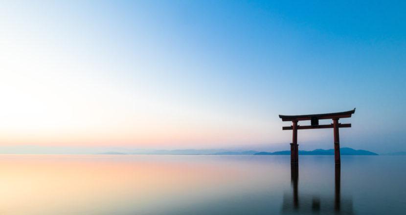 琵琶湖白鬚神社鸟居