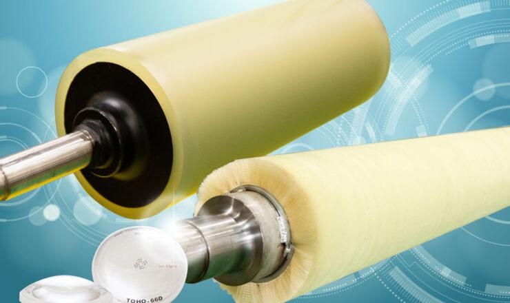 ブラシロール、ゴム(ウレタンロール)、レンズ膜厚計